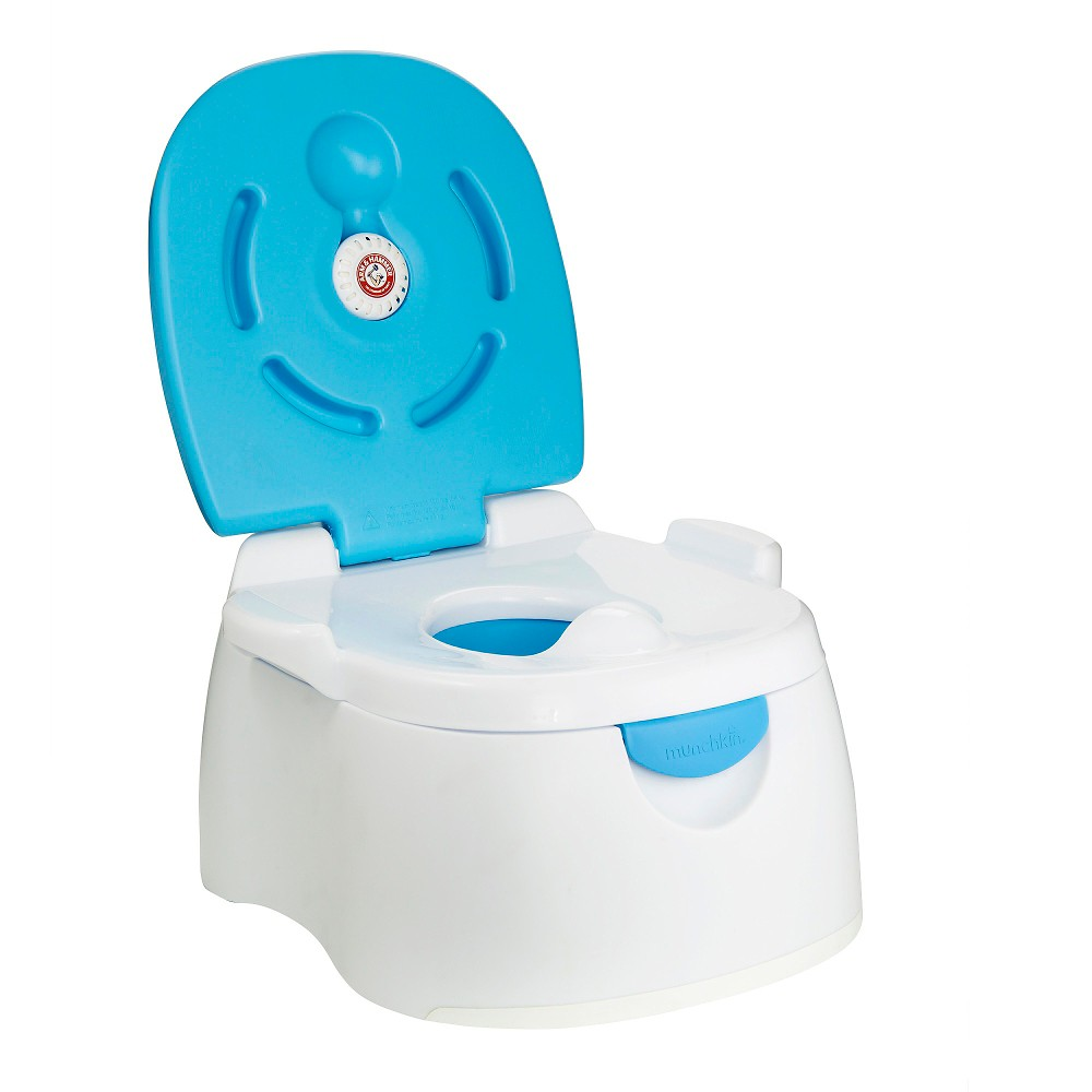 Munchkin Arm & Hammer 3-in-1 Potty Seat, White/Blue