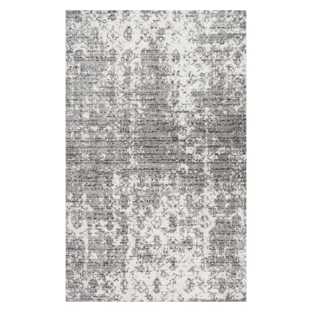 Gray Solid Loomed Area Rug 10'X14' - nuLOOM, Blue