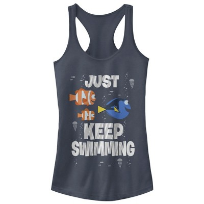 Junior's Finding Dory Just Keep Swimming Racerback Tank Top