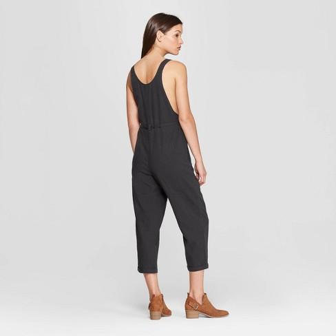 8cdf98d5a49 Women s Sleeveless Belted Overalls - Universal Thread™ Gray XL   Target