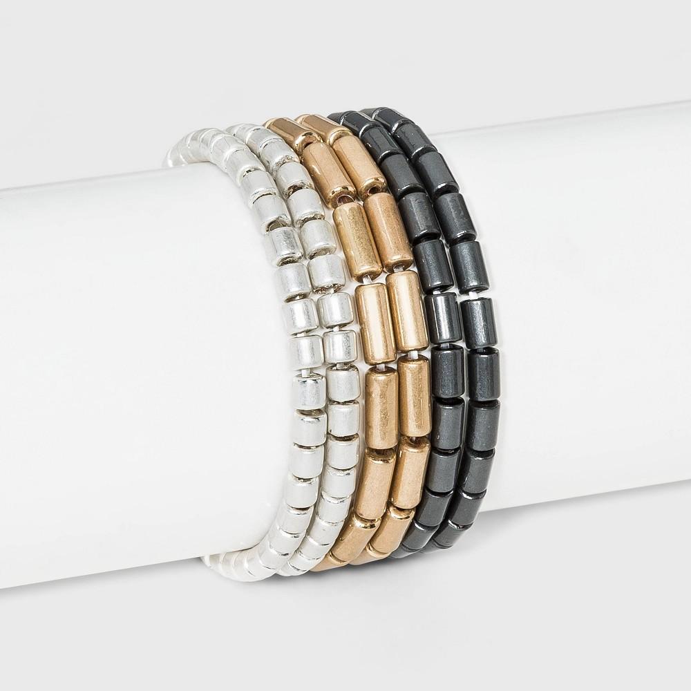 Cylinder Beaded Stretch Bracelet Set 6pc Universal Thread 8482