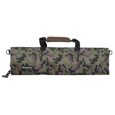 Messermeister 2088-8/C 8 Pocket Padded Print Knife and Kitchen Tool Storage Luggage, Camouflage