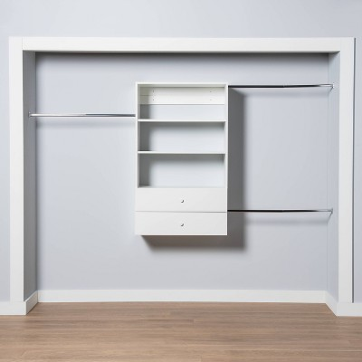 4-8' Closet System with Laminate Solution White - Made By Design™
