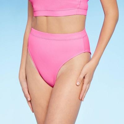 Juniors' Ribbed High Leg High Waist Bikini Bottom - Xhilaration™