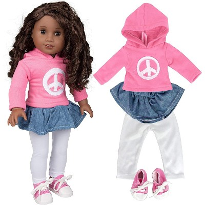 Dress Along Dolly Peace Outfit for American Girl Doll