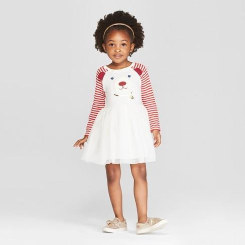 fc48556afab Toddler Girls  Bear Tutu Dress - Cat   Jack™ Cream Red 3T   Target