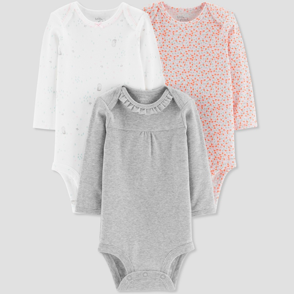 Baby Girls' 3pk Owl Bodysuit - Little Planet by Carter's Pink 6M