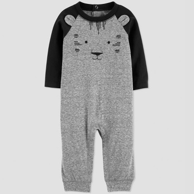 Baby Boys' Tiger Jumpsuit - Just One You® made by carter's Black/Gray Newborn