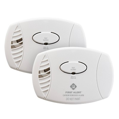 First Alert 2pk CO400CN2 Battery Powered Carbon Monoxide Detector