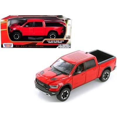 2019 RAM 1500 Rebel Crew Cab Pickup Truck Red 1/24 Diecast Model Car by Motormax