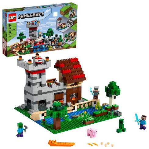 Lego Minecraft The Crafting Box 3 0 Minecraft Castle And Farm Building Set 21161 Target