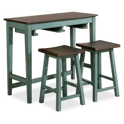 3pc Helbrana Bar Height Dining Set Green - HOMES: Inside + Out
