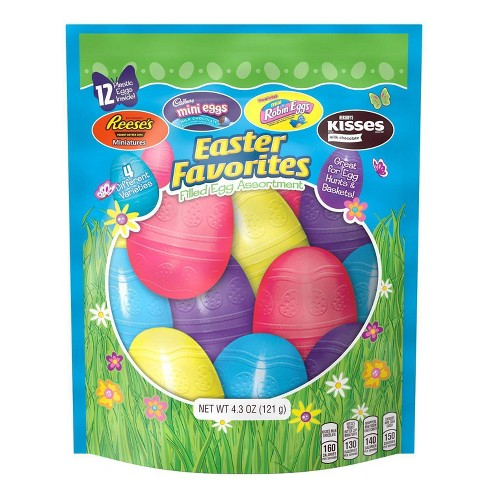 Hershey's Easter Favorites Assorted Chocolate Filled Plastic Eggs - 4.3oz - image 1 of 4