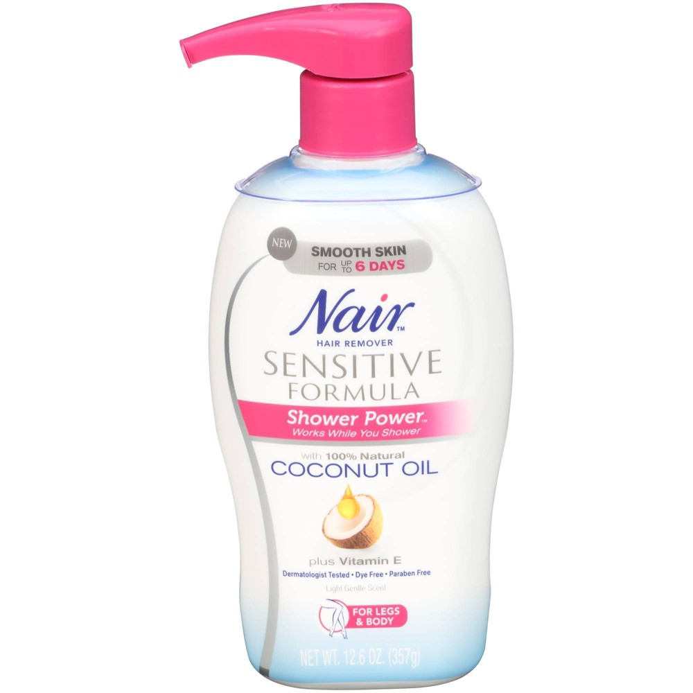 Image of Nair Shower Power Sensitive with Coconut Oil 12.6oz