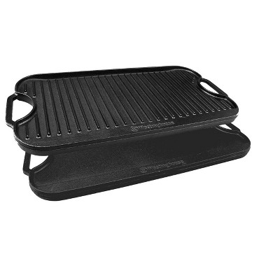 Westinghouse Cast Iron Seasoned Grill And Griddle, 20X10-Inch