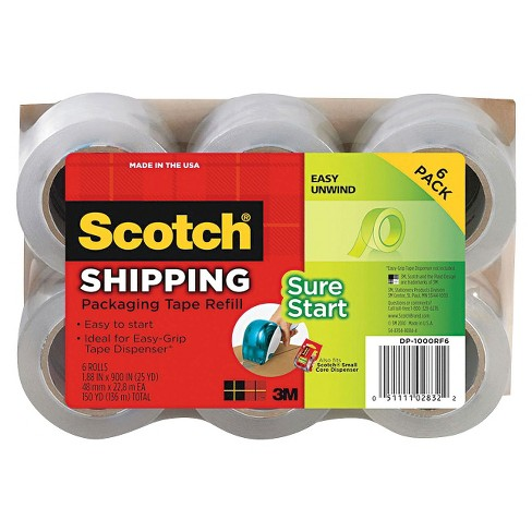 "Scotch® 1.88"" x 25yds Refill Rolls for DP-1000 Easy Grip Tape Dispenser- Clear (6 per Pack) - image 1 of 1"