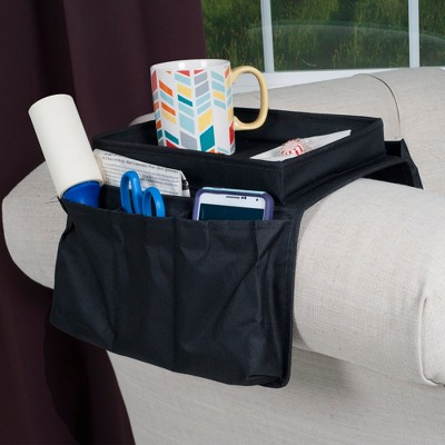 Hastings Home 6 Pocket Arm Rest Organizer w/ Table-Top