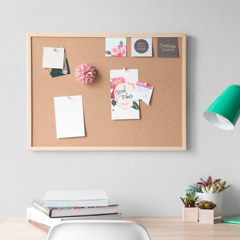39cf9148d96 Ubrands® Cork Bulletin Board Wood Frame 17