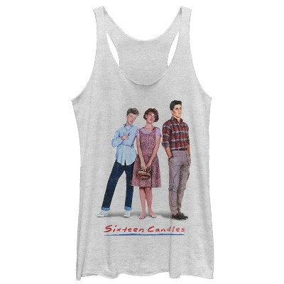 Women's Sixteen Candles Classic Movie Poster Racerback Tank Top