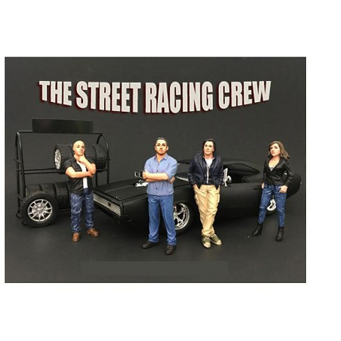 The Street Racing Crew 4 Piece Figure Set For 1:24 Scale Models by American Diorama - image 1 of 1