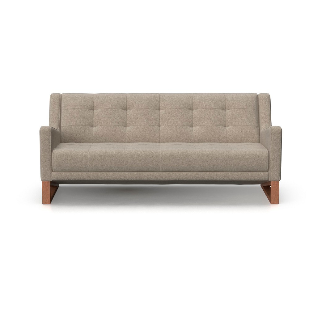 Mandy Mid Century Modern Tufted Sofa Heather Gray - AF Lifestlye