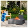 "Aidan 40"" Light Weight Concrete Gas Fire Pit Table With Tank Holder Square - Christopher Knight Home  - image 2 of 4"