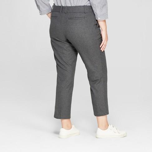 cea84e631f5 Women s Plus Size Ankle Pants With Comfort Waistband - Ava   Viv ...