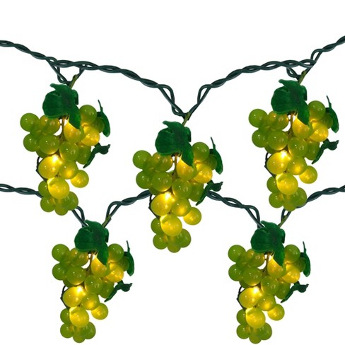 Northlight 5 Green Grape Cluster String Lights - 6ft. Green Wire - image 1 of 2