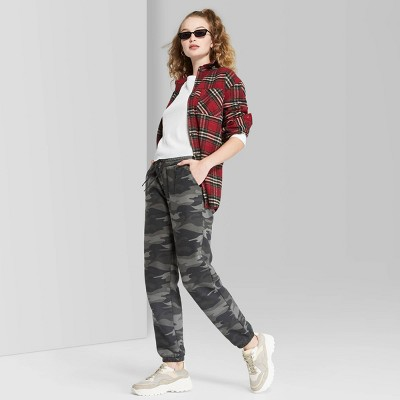 Women's High-Rise Vintage Jogger Sweatpants - Wild Fable™