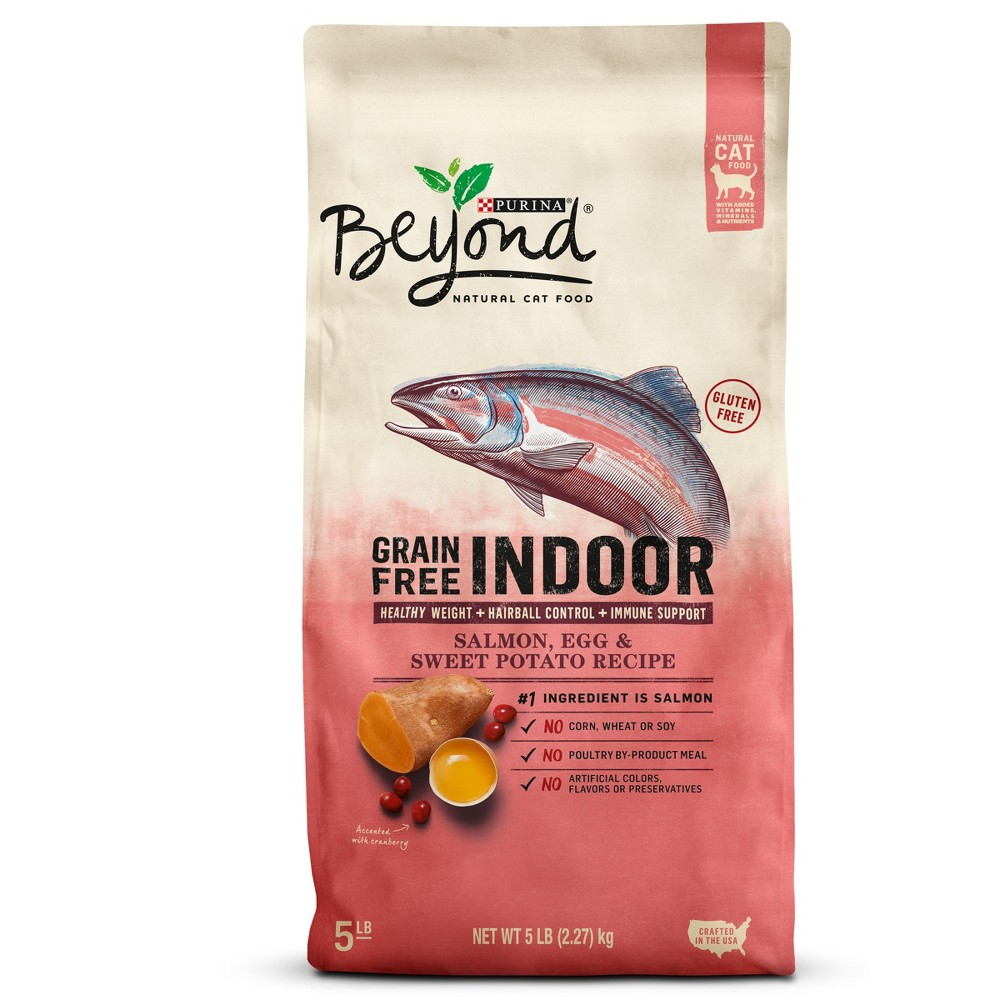 Purina Beyond Indoor Grain Free Salmon, Egg & Sweet Potato Recipe Dry Cat Food - 5lbs