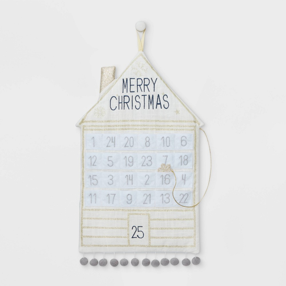 Image of Hanging Fabric Christmas Countdown Cream and Champagne - Wondershop , Gold