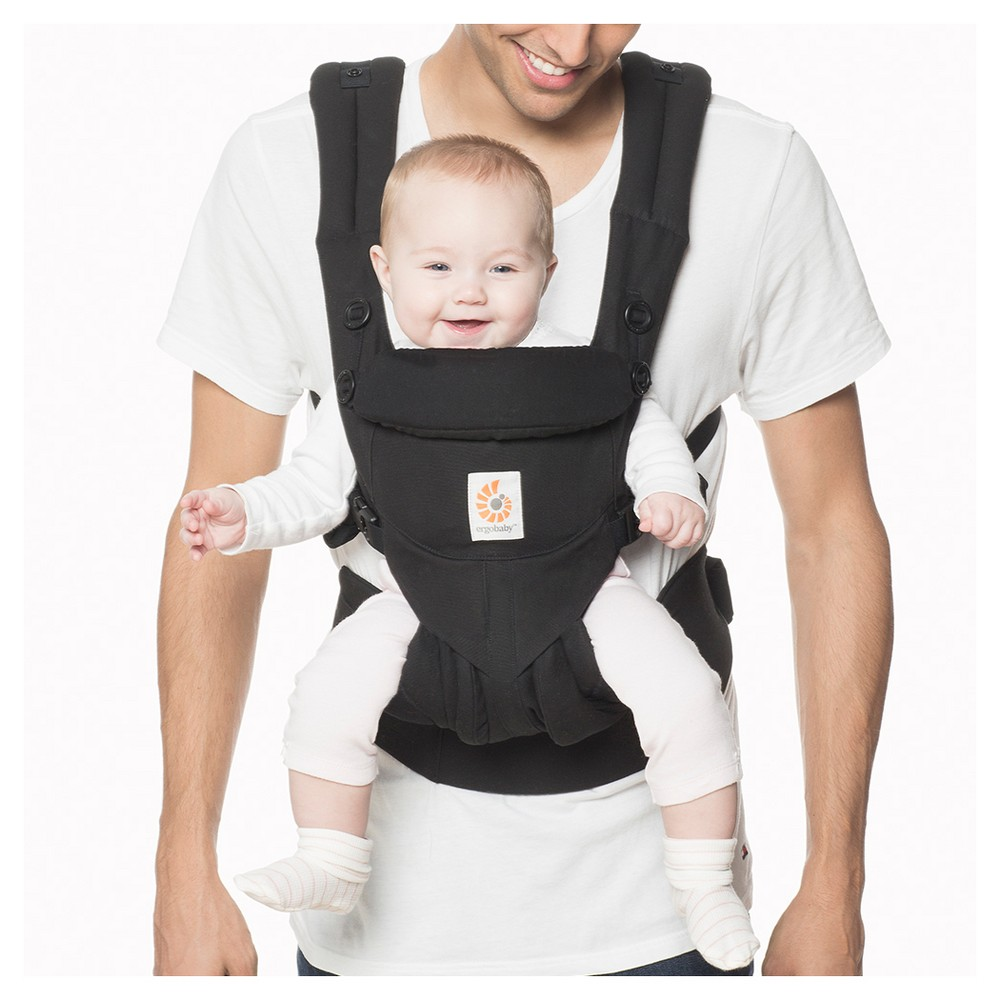Image of Ergobaby Omni 360 All Carry Positions Ergonomic Baby Carrier - Pure Black