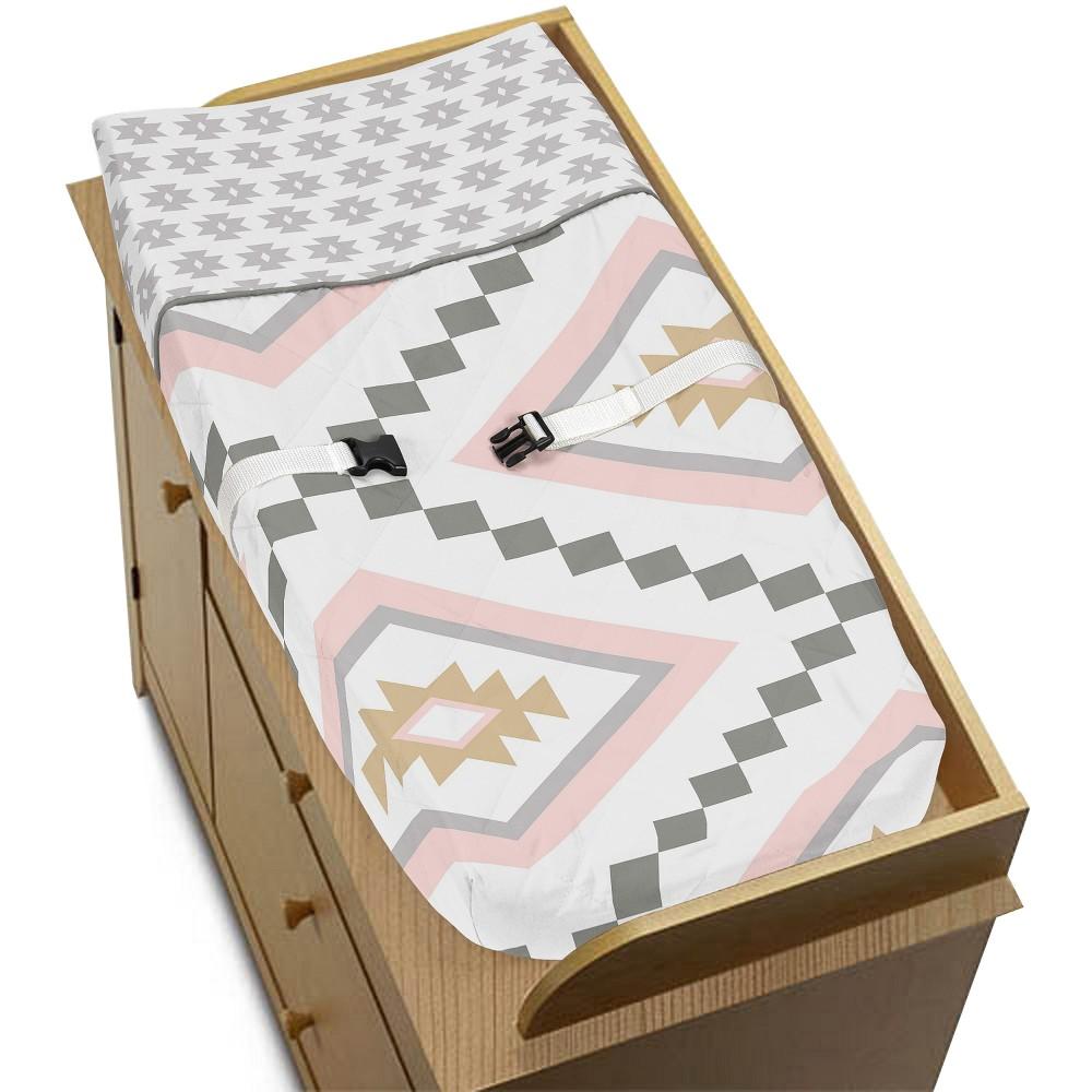 Sweet Jojo Designs Changing Pad Cover - Aztec - Gray