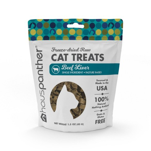 Hauspanther Freeze Dried Beef Liver Cat Treats - 1.5oz - image 1 of 4