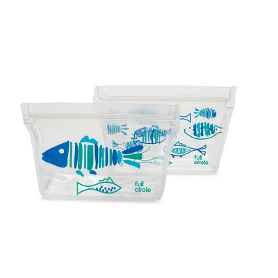 Full Circle Ziptuck Reusable Snack Set - Shells and Scales