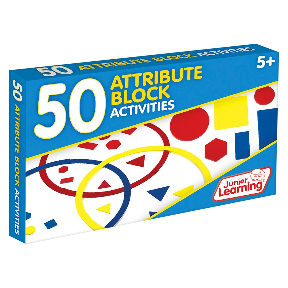 Image of Junior Learning 50 Attribute Block Activities Learning Set