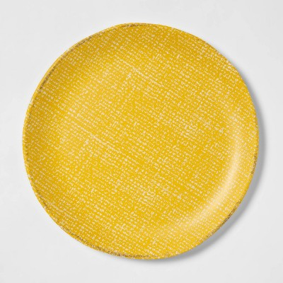"11"" Melamine Linen Texture Dinner Plate - Threshold™"