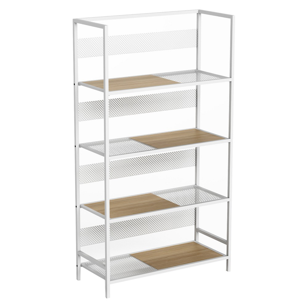 50 Doheny 4 Tier Folding Shelf White - Jamesdar