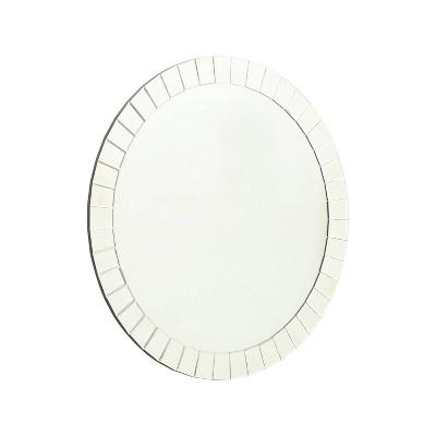 Tori Round Wall Mirror Silver - Abbyson Living