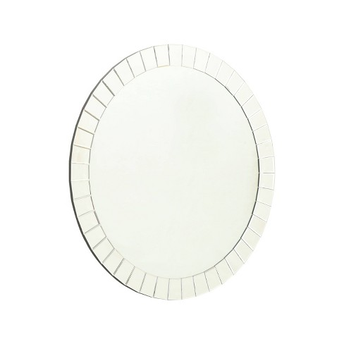 Tori Round Wall Mirror Silver - Abbyson Living - image 1 of 4
