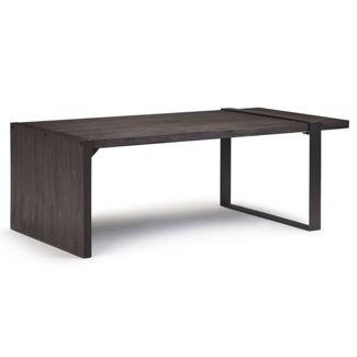 "50"" Franz Coffee Table Distressed Dark Brown - Wyndenhall"