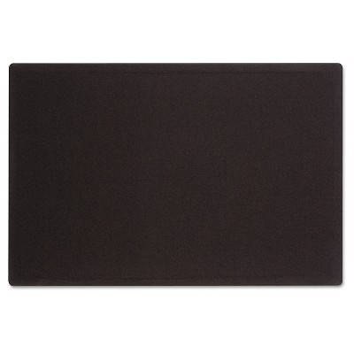 Quartet® Oval Office Fabric Bulletin Board, 48 x 36, Black