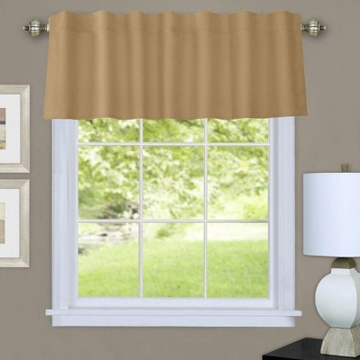 """Commonwelath Thermalogic Prescott Insulated Dual Header Valance With 8 Tabs & 3"""" Rod Pocket - (60""""x16"""")"""