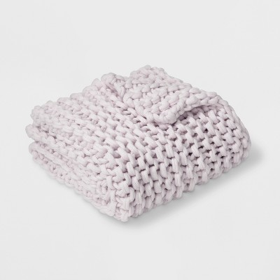 Hygge' Chunky Throw Blanket Lavender - Threshold™