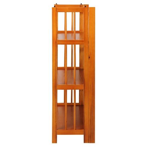 Folding 38 3 Tier Bookshelf Stackable