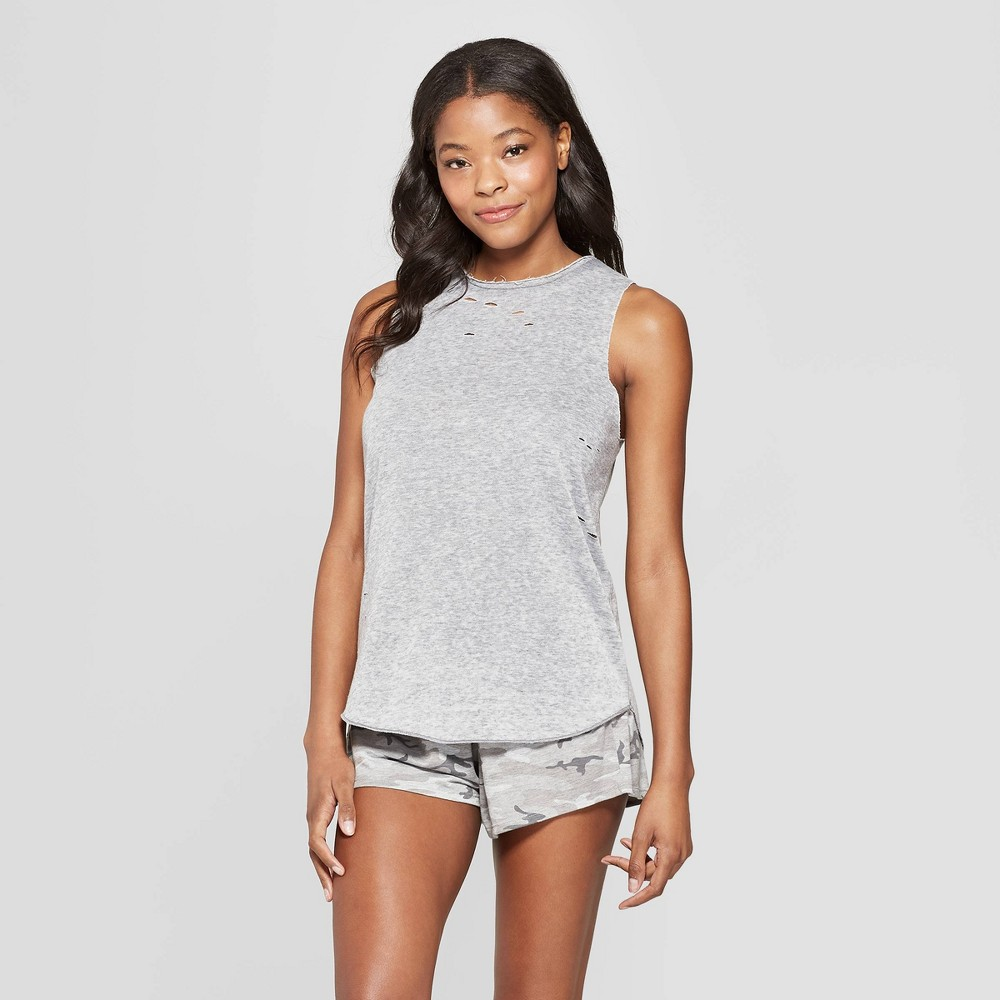 Grayson Threads Women's Destructed Tank Top - Gray XS