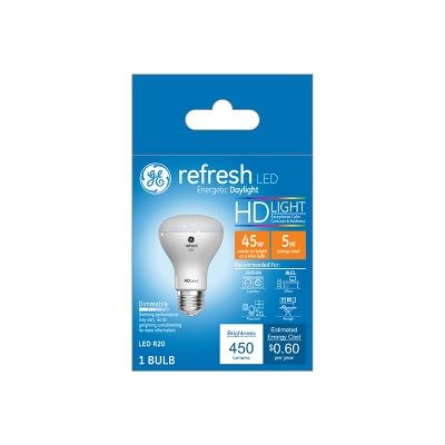 General Electric 45W Refresh LED Light Bulb Dl R20 Dimming Long Life