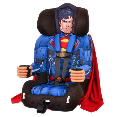 Kids Embrace DC Comics Superman Combination Harness Booster Car Seat with Cape - image 1 of 4