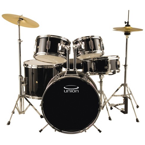 Union Uj5 5pc Junior Drum Set With Hardware Cymbals And Throne