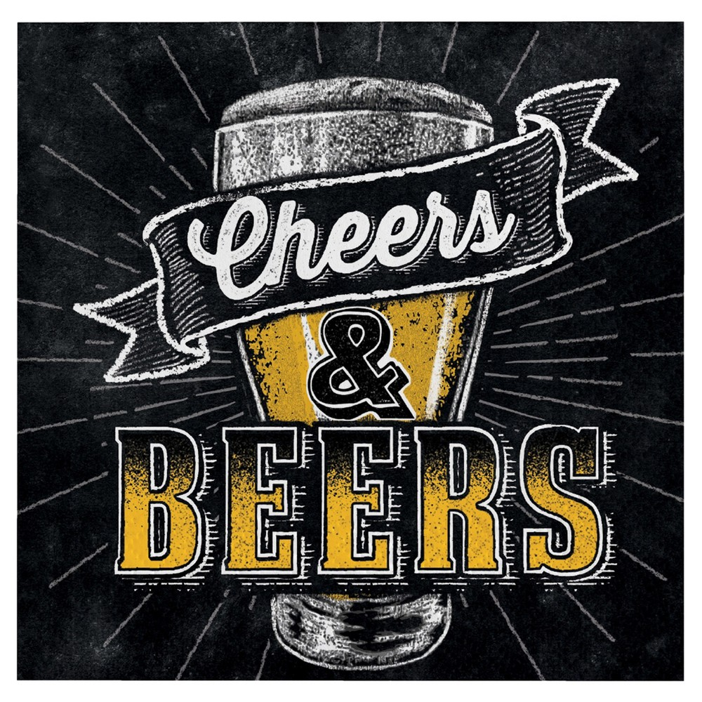 Image of 16ct Cheers & Beers Beverage Napkins